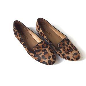 Anthropologie Bibi Lou Leopard Loafers Flats